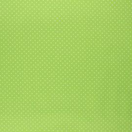 Poppy coated cretonne cotton fabric - lime green Petit dots x 10cm