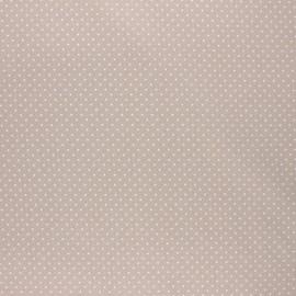 Tissu coton cretonne enduit Poppy Petit dots - grège x 10cm