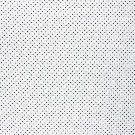 Tissu coton cretonne enduit Poppy Petit dots - blanc/noir x 10cm