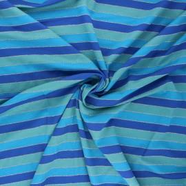 Tissu jersey viscose Brillanti - bleu x 10 cm