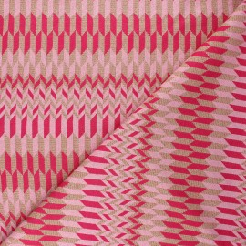 Tissu maille viscose lurex Brillanti love - fuchsia x 10cm
