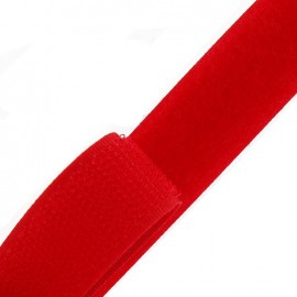 Self gripping Sew-on tape 20 mm - red
