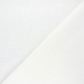 Stamen linen aspect fabric - white Giorno x 10cm