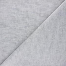 Stamen linen aspect fabric - grey Giorno x 10cm