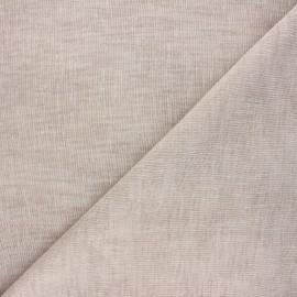 Stamen linen aspect fabric - taupe Giorno x 10cm