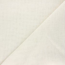 Stamen linen aspect fabric - raw Giorno x 10cm