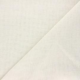 Tissu étamine aspect lin Giorno - écru x 10cm