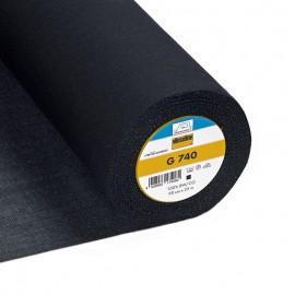 Entoilage tissé G740 Vlieseline - noir x 10cm