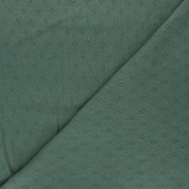 Tissu jersey maille ajourée Diamond - vert foncé x 10cm