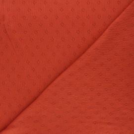 Openwork jersey fabric - rust Diamond x 10cm