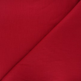Plain linen fabric - dark red Dolce x 10 cm