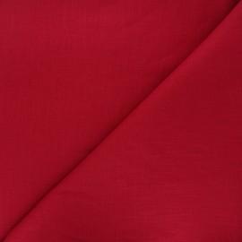Tissu lin uni Dolce - rouge foncé x 10 cm
