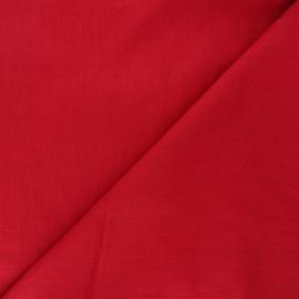 Plain linen fabric - passion red Dolce x 10 cm