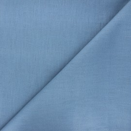 Plain linen fabric - bleuet Dolce x 10 cm