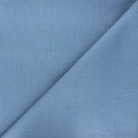Tissu lin uni Dolce - bleuet x 10 cm