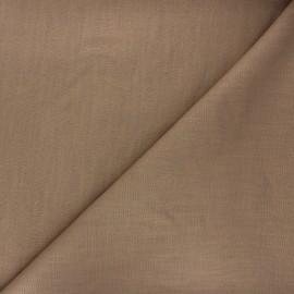Tissu lin uni Dolce - châtaigne x 10 cm