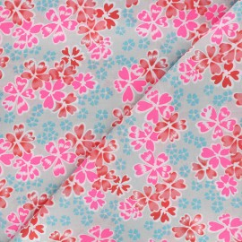 Fabric coton Junko gris clair x 10cm