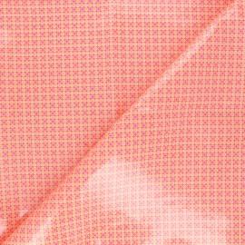 Tissu coton enduit Petit Pan Django - tangerine x 10cm