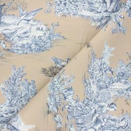 Toile de Jouy fabric - sand Pastorale x 48cm