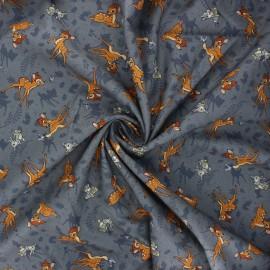 Tissu coton popeline Bambi - gris x 10cm