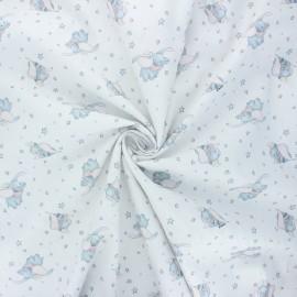 Tissu coton popeline Dumbo's world - blanc x 10cm