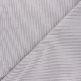 Tissu jersey maille marcel uni - gris x 10cm