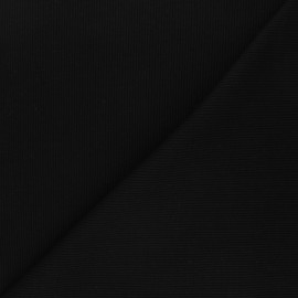 Plain knit jersey fabric - black x 10cm