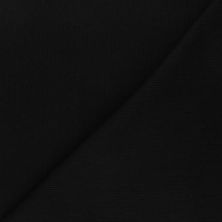 Tissu jersey maille marcel uni - noir x 10cm