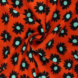 Crepe viscose fabric - orange Caleen x 10cm