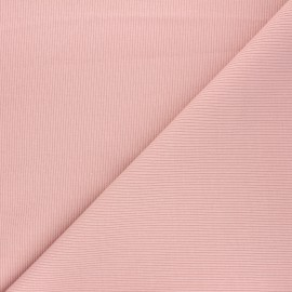 Tissu jersey maille marcel uni - rose pâle x 10cm