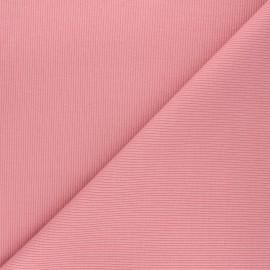 Tissu jersey maille marcel uni - rose x 10cm