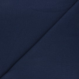 Plain knit jersey fabric - navy blue x 10cm