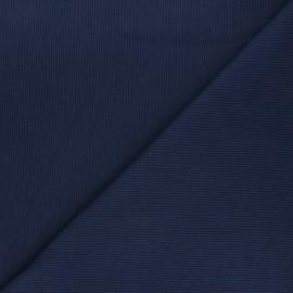 Tissu jersey maille marcel uni - bleu marine x 10cm