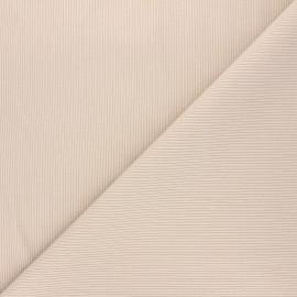 Tissu jersey maille marcel uni - beige x 10cm