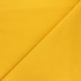 Plain knit jersey fabric - mustard yellow x 10cm