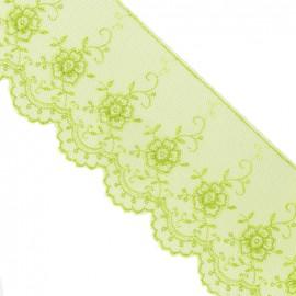 Valenciennes lace - lime