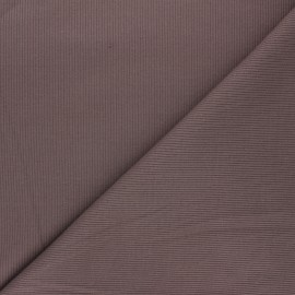 Plain knit jersey fabric - brown x 10cm