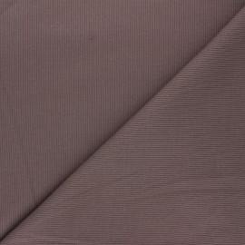 Tissu jersey maille marcel uni - marron x 10cm