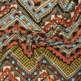 Viscose jersey fabric - multicolor Mohea x 10 cm