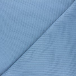 Plain knit jersey fabric - swell blue x 10cm