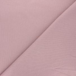 Plain knit jersey fabric - lilac x 10cm