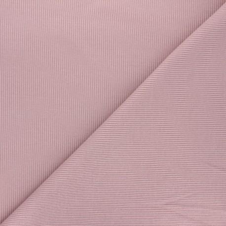 Tissu jersey maille marcel uni - lilas x 10cm