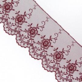 Valenciennes lace - burgundy