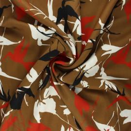 Viscose fabric - camel Hummingbird x 10 cm