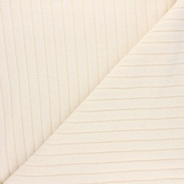 Ribbed knit jersey fabric - raw Cocoon x 10cm