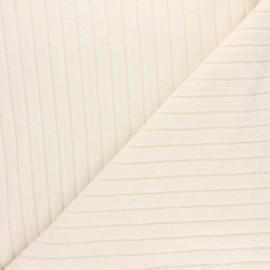 Tissu jersey maille côtelé Cocoon - écru x 10cm