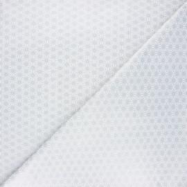 Cretonne cotton fabric - silver Saki x 10 cm