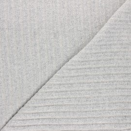 Ribbed knit jersey fabric - grey Cocoon x 10cm