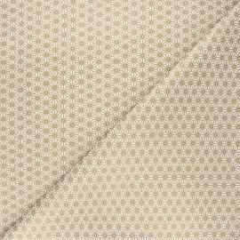 Cretonne cotton fabric - gold Saki x 10 cm
