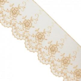 Dentelle Valencienne beige clair